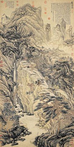 Lofty Mt. Lu by Shen Zhou