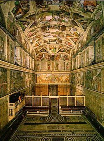 Sistene Chapel by Baccio Pontelli and Giovanni de Dolci