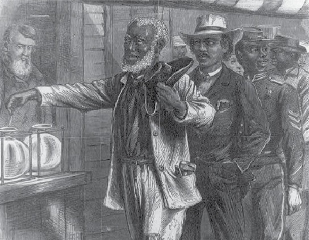 The 15th Amendment was ratified