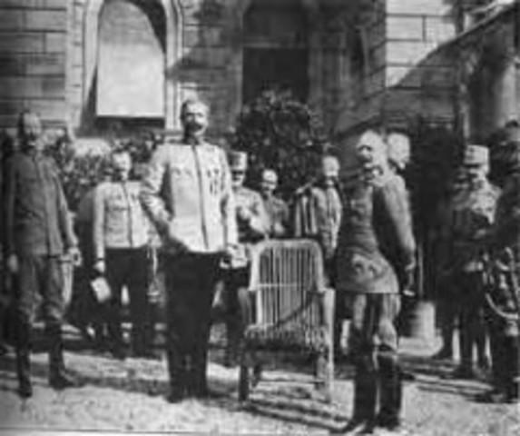 Austria le declara la guerra a Serbia