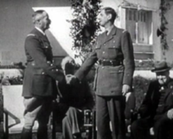 Conferencia de los aliados (Inglaterra, Francia, EE.UU.) en Casablanca (Marruecos)