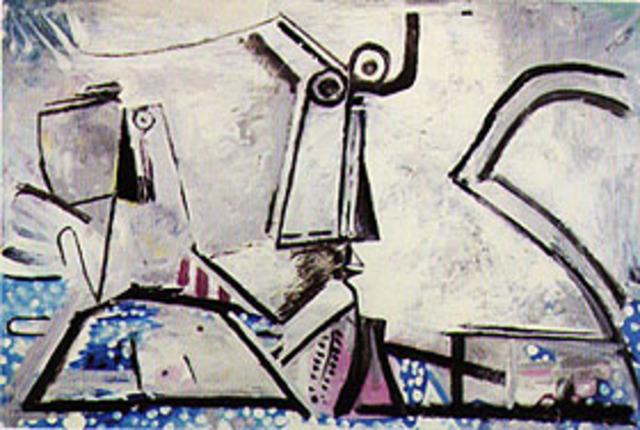Nu Couche et Tete by Pablo Picasso