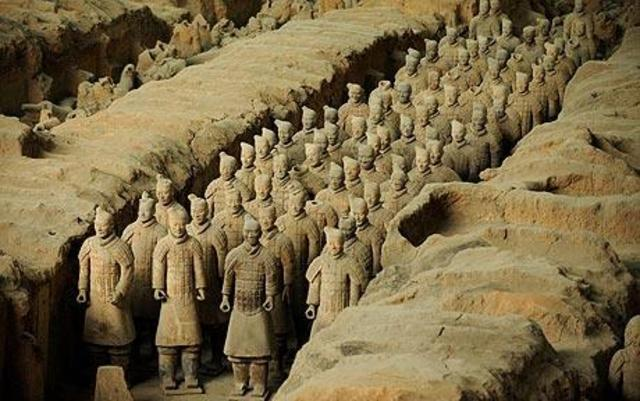 Terracotta army unearthed in China