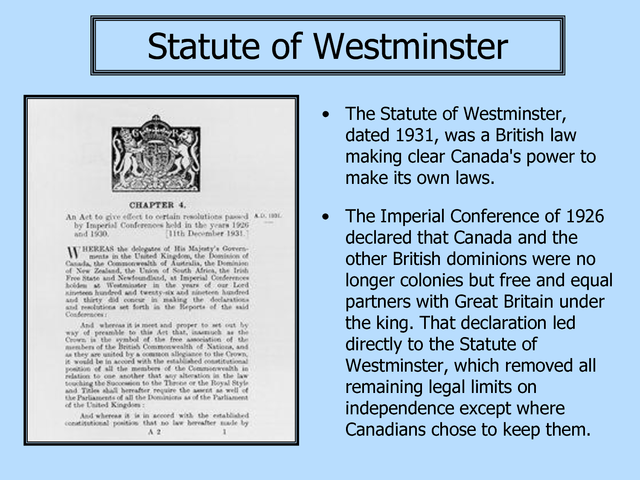 Statue of Westminister