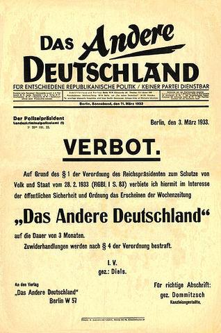 Decreto del incendio de Reichstag