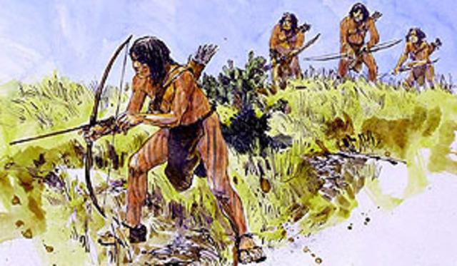 Karankawa indians attack