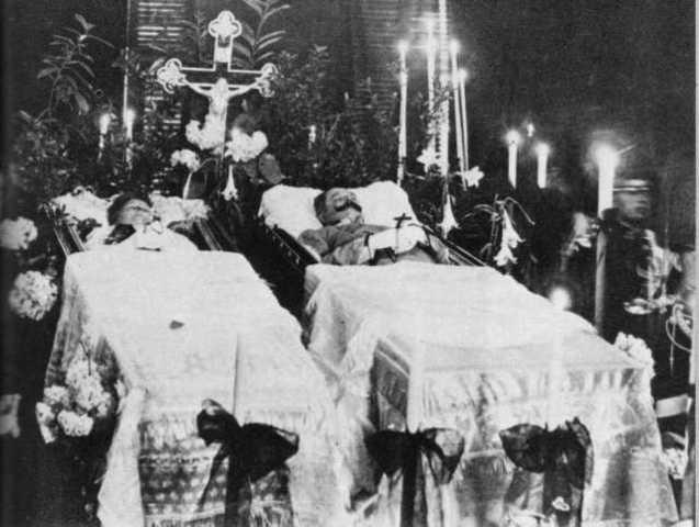 Muerte del Archiduque Fernando y su esposa