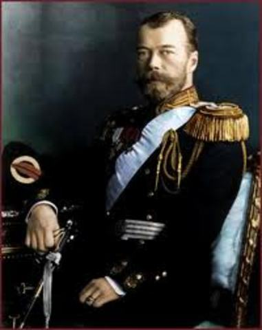 Destitución del Zar Nicolás II