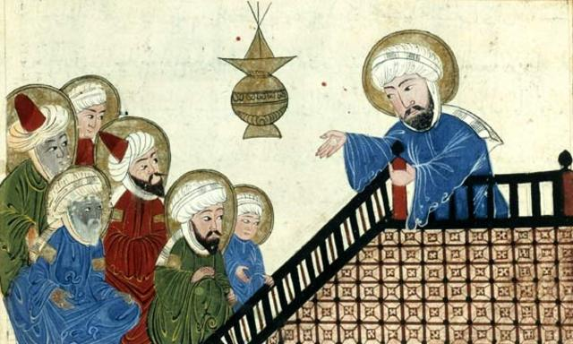 Muhammed speaks to the public