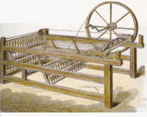 """John Kay inventa la """"Lanzadera volante"""""""