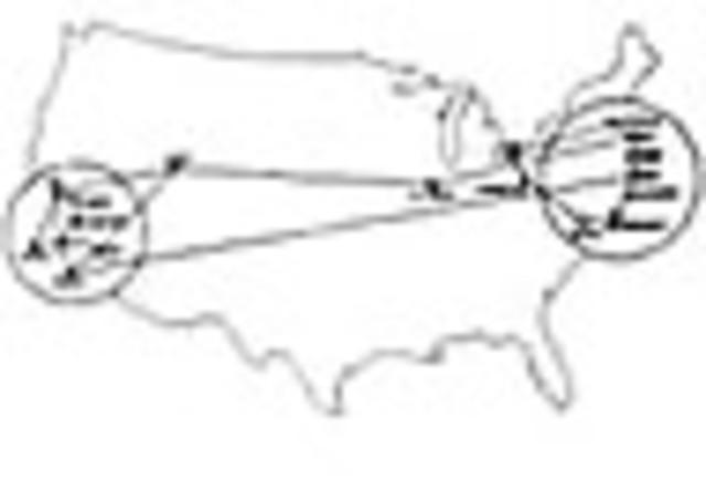 1970: ARPANET realiza su primer conexión a través de todo el país.