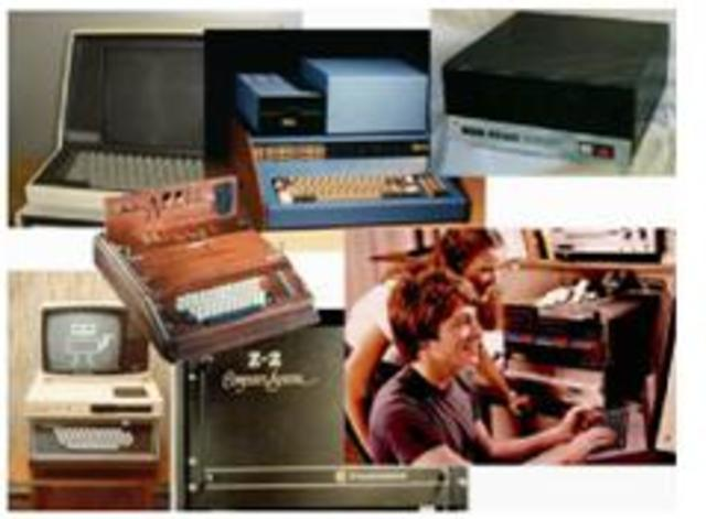 1977- Aparecieron en el mercado los microordenadores o computadoras personales,