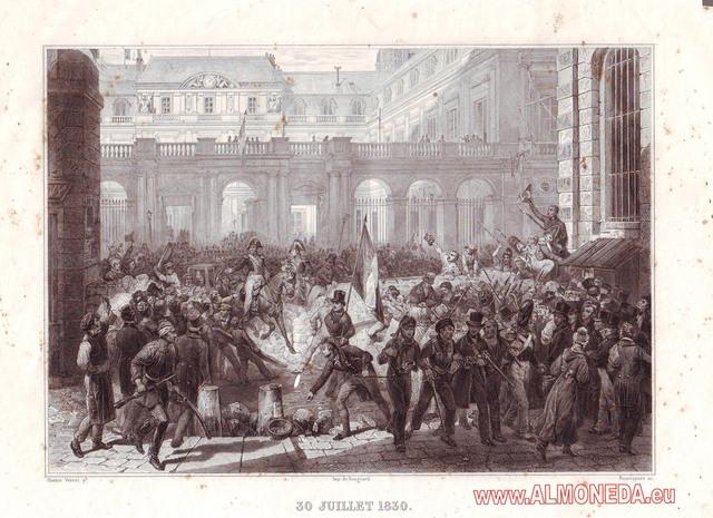 """""""Revolución de julio"""" en Francia."""