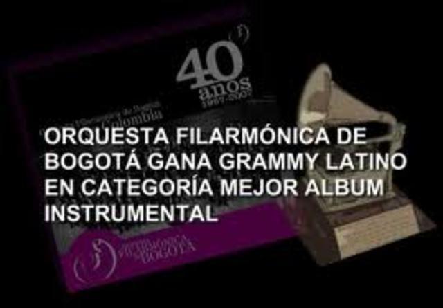 La orquesta filarmonica de Bogotá recibe Grammy Latino