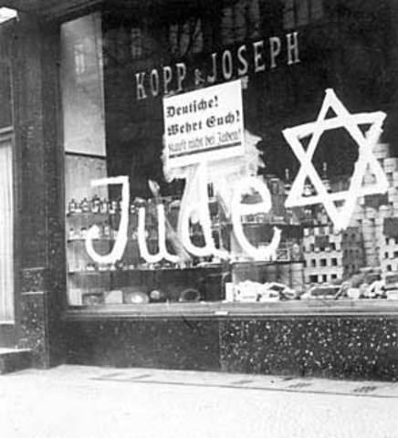 Nazi boycott of Jewish Buiessness