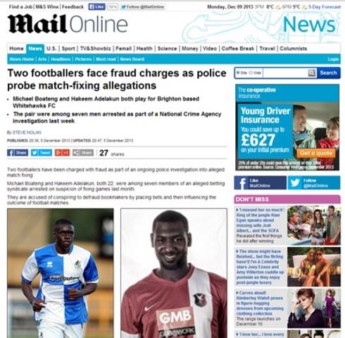 Michael Boateng and Hakeem Adelakan arrested