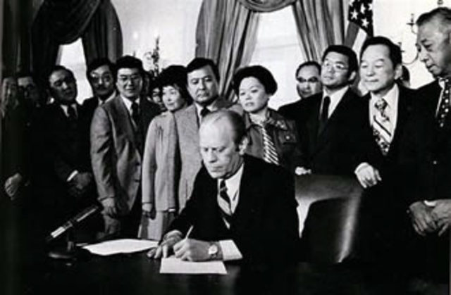President Gerald Ford Repeals Executive Order 9066