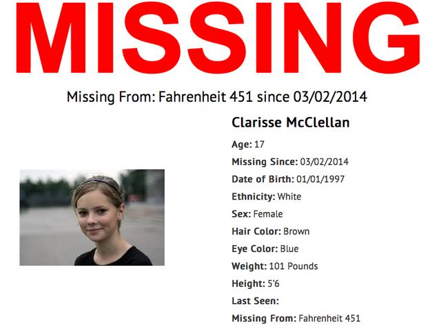 Clarisse is missing.