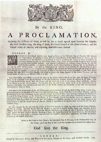 Paris Peace Treaty of 1763