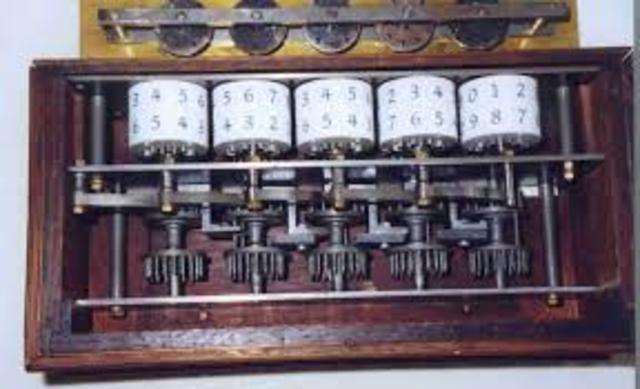 una de las primeras calcuadoras mecanicas