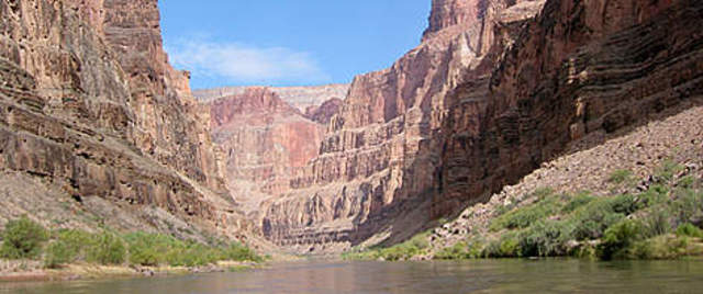 Camped in the Grand Canyon.