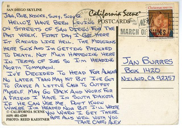 Chris sends a letter.