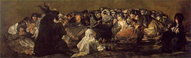Last Goya painting, ''El Aquelarre''