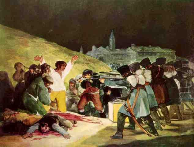 Painting Los Fusilamientos del tres de mayo