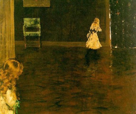 "William Merritt Chase's ""Hide and Seek"""