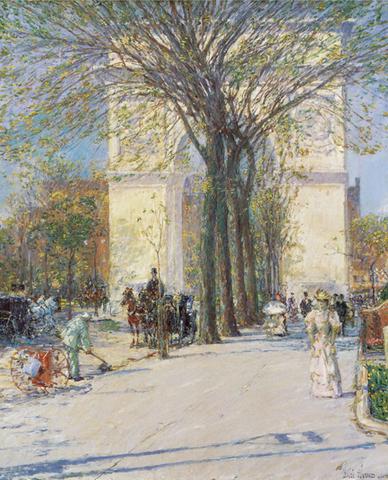 "Childe Hassam's ""Washington Arch, Spring"""