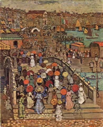 """Maurice Prendergast's """"Ponte della Paglia"""""""