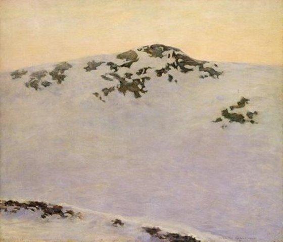 "Augustus  Vincent Tack's ""Windswept (Snow Picture,Leyden)"