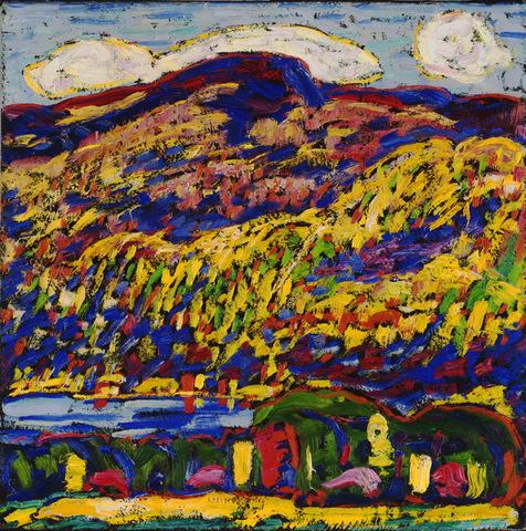 "Marsden Hartley's ""Mountain Lake-Autumn"""