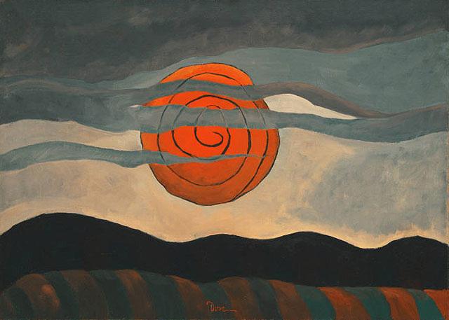 "Arthur G.Dove's ""Red Sun"""