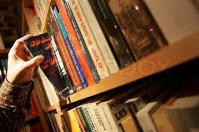 Montag steals first book