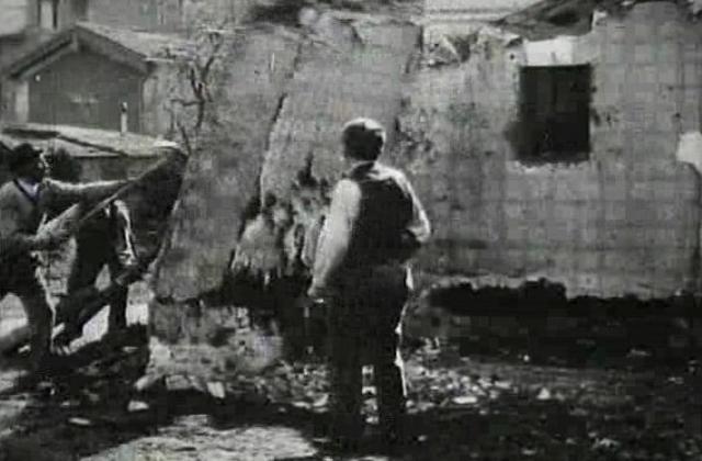 La demolición de un muro de los hermanos Lumiere