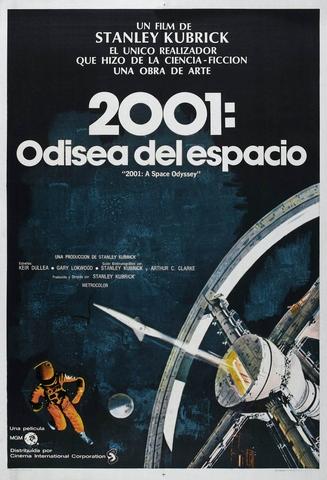 Stanley Kubrick rueda Una odisea en el espacio