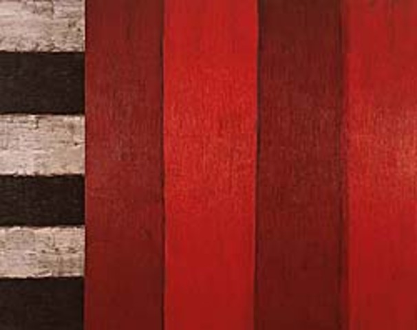"""Sean Scully's """"Red and Red"""""""