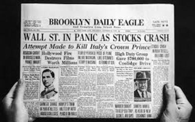 Stock Market Crashed- Great Depression