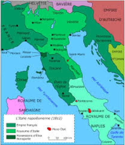 Italia se une a la tripe alianza (Inglaterra, Francia, Rusia).