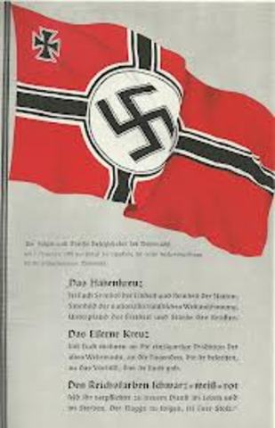 Nazi flag in the center of town