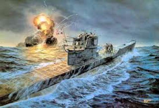 alemania intensifica la guerra submarina.