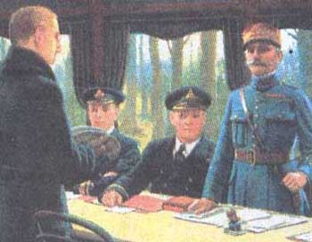 alemania firma el armisticio.