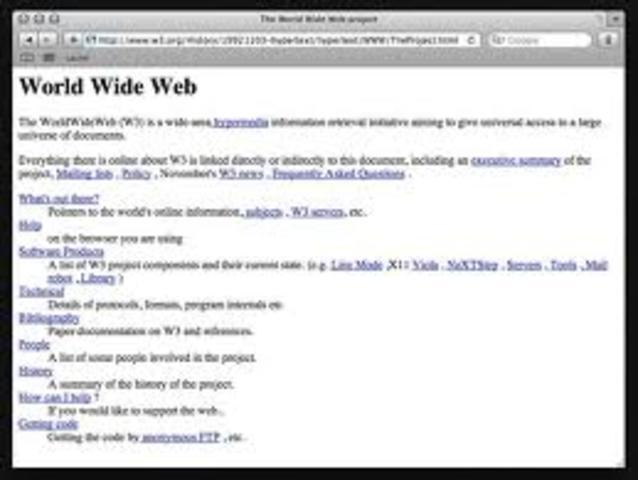 Nace la primera página web
