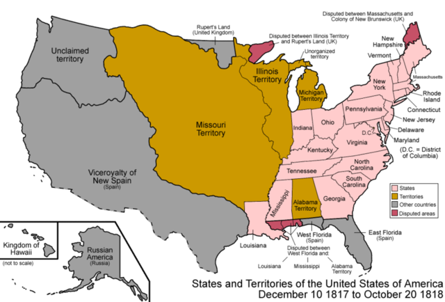 Mississippi added to the Union