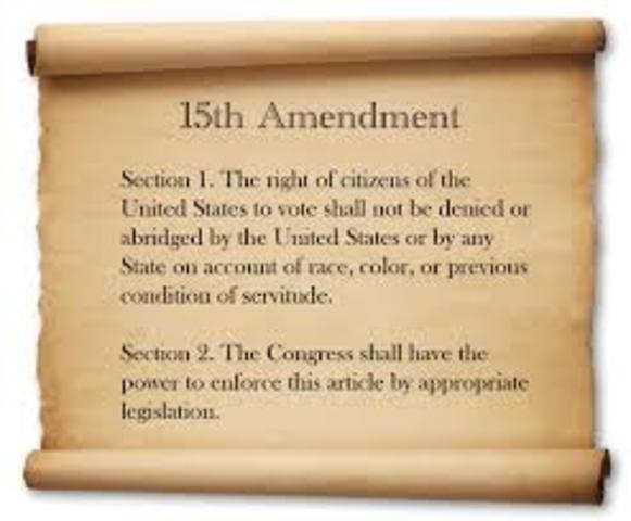 15th Amendment Created