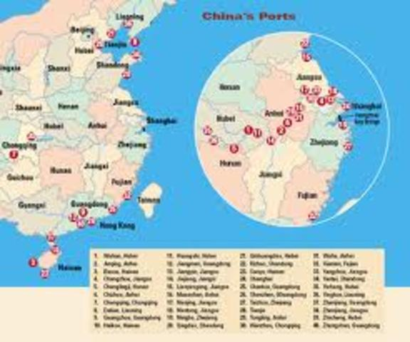China Ports Open to Foreign Trade