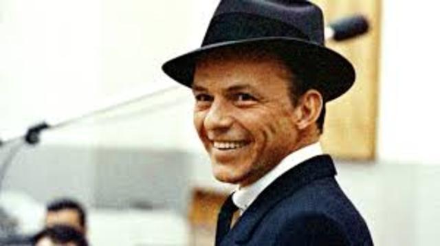 Sinatra makes his first solo recording