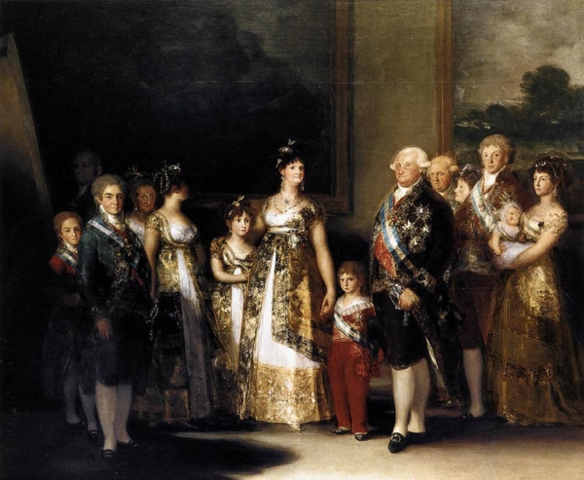 Charles IV family painting by goya