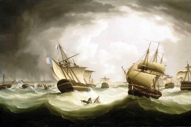 Spanish defeat at trafalgar